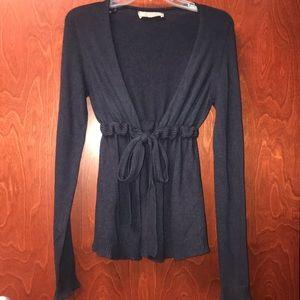 Zara Navy Cinched Waist Sweater Size Small